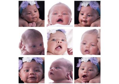 newborn baby girl faces